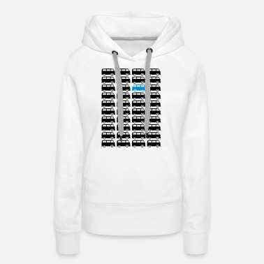 Oldtimer Bulli Bus - Drive different (2c + your Text) - Women's Premium Hoodie