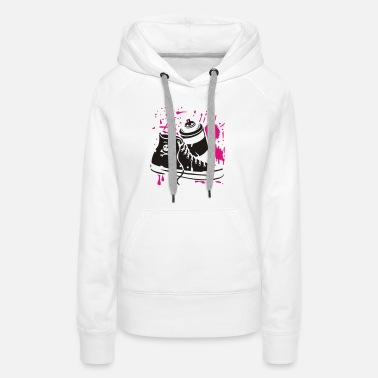 Rap Star CHUCKS WITH GRAFFITI CAN - Women's Premium Hoodie