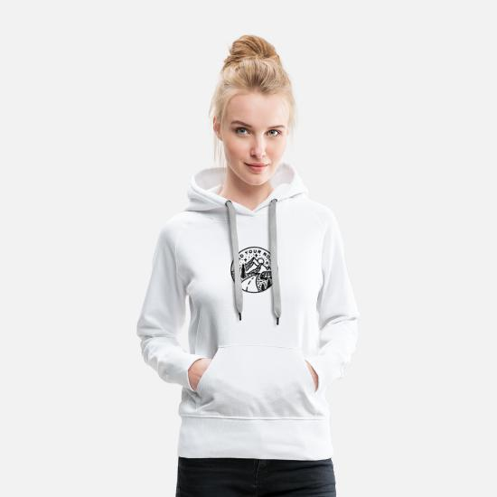 Travel Hoodies & Sweatshirts - Camping Find Your Road - Women's Premium Hoodie white