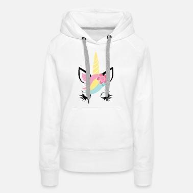 Trend Animal Unicorn face -child-baby-toddler-kid-gift-animal - Women's Premium Hoodie