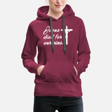 Savior Jesus is Lord, saves, bible, Christ, God, church - Women's Premium Hoodie