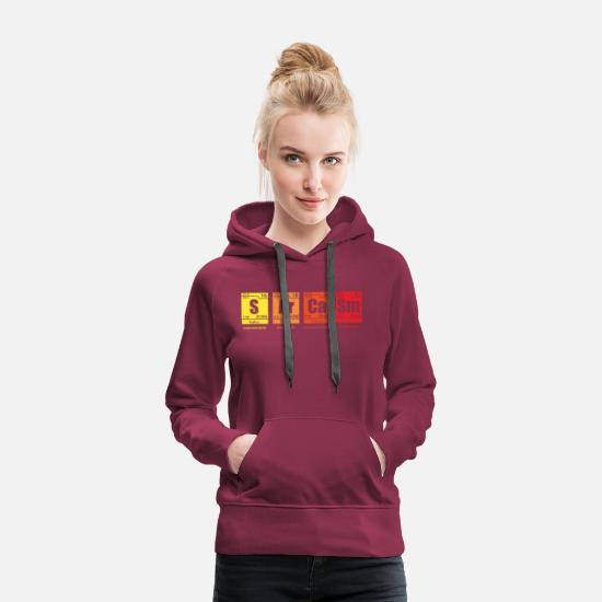 Sarcasm Hoodies & Sweatshirts - Sarcasm The elements of humor - Women's Premium Hoodie burgundy