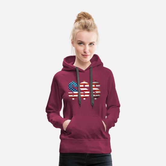 Cash Money Hoodies & Sweatshirts - Dollars - Women's Premium Hoodie burgundy