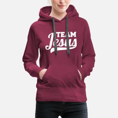 Jesus Team Jesus design white - Women's Premium Hoodie