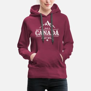 Canada CANADA STAY WILD STAMPED VINTAGE - Women's Premium Hoodie