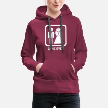 Funny Husband And Wife gameover funny for husband and wife - Women's Premium Hoodie