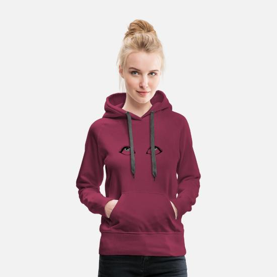 Girl Hoodies & Sweatshirts - Women's eyes look up. Look at that - Women's Premium Hoodie burgundy