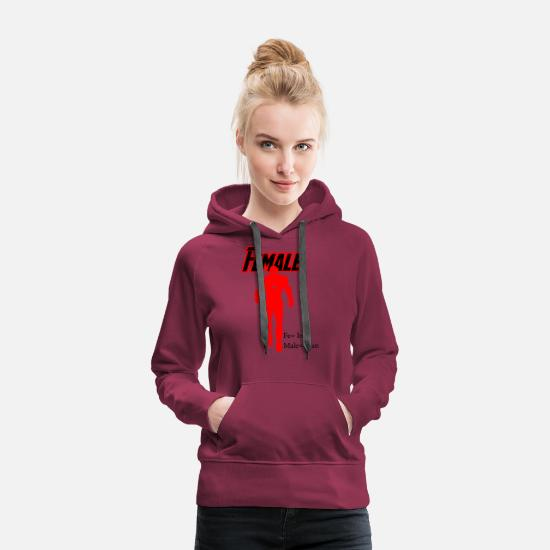 Female Hero Hoodies & Sweatshirts - female hero - Women's Premium Hoodie burgundy