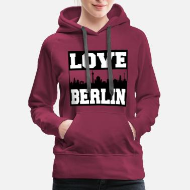 Skyline Of Berlin Berlin skyline - Women's Premium Hoodie