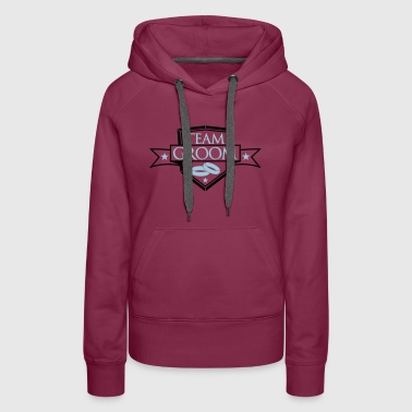 stars shield coat of arms rings banner stamp crew - Women's Premium Hoodie