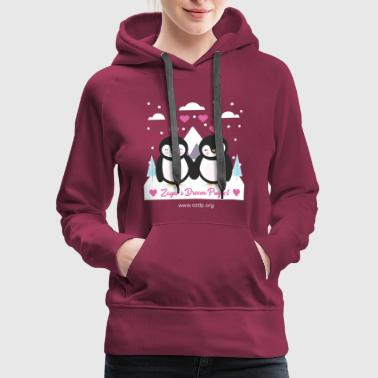 Couple penguin design - Women's Premium Hoodie