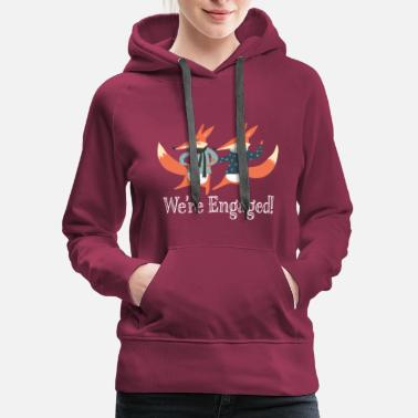 fe2fba9c7d4d6 Couples Engagement Announcement Fox Couple - Women's Premium Hoodie