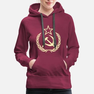 Soviet Union Cold War Communist Flag - Women's Premium Hoodie