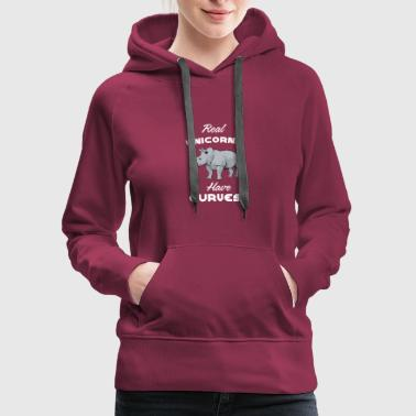 Curves Real Unicorns Have Curves - Women's Premium Hoodie