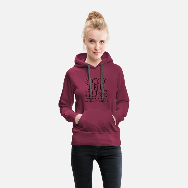Guns Hoodies & Sweatshirts - God And Guns - Women's Premium Hoodie burgundy