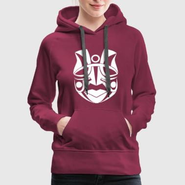 ancient tribal indian mask wise chief white - Women's Premium Hoodie