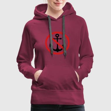 forbidden sign shield caution anchor boat ship flo - Women's Premium Hoodie