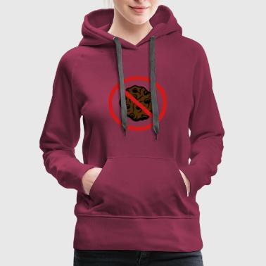 Snack zone forbidden shield no cookie biscuit chocolate - Women's Premium Hoodie