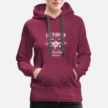 Jet Fighter Jet Fighter - Women's Premium Hoodie