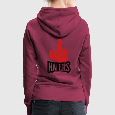 show wanker fuck off you hand middle finger cool h - Women's Premium Hoodie