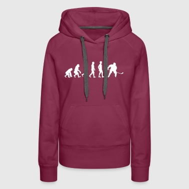 The Evolution Of Hockey Player - Women's Premium Hoodie