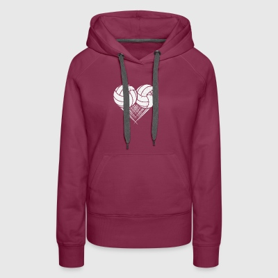 I love Volleyball My Heart goes Volleyball - Women's Premium Hoodie