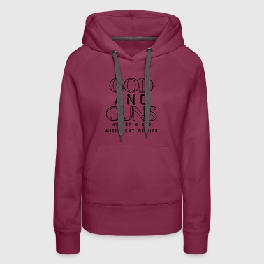 God And Guns - Women's Premium Hoodie