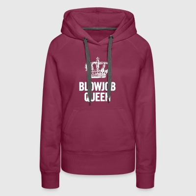 Blowjob Queen 2 White - Women's Premium Hoodie