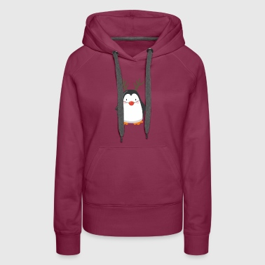Red Nose Penguin T shirt - Women's Premium Hoodie
