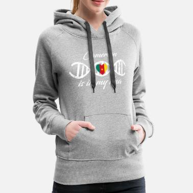 Cameroon love my dna dns land country Cameroon - Women's Premium Hoodie