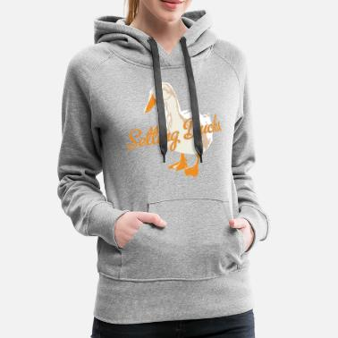 Volleyball Team Team Volleyball Setting Ducks Design - Women's Premium Hoodie