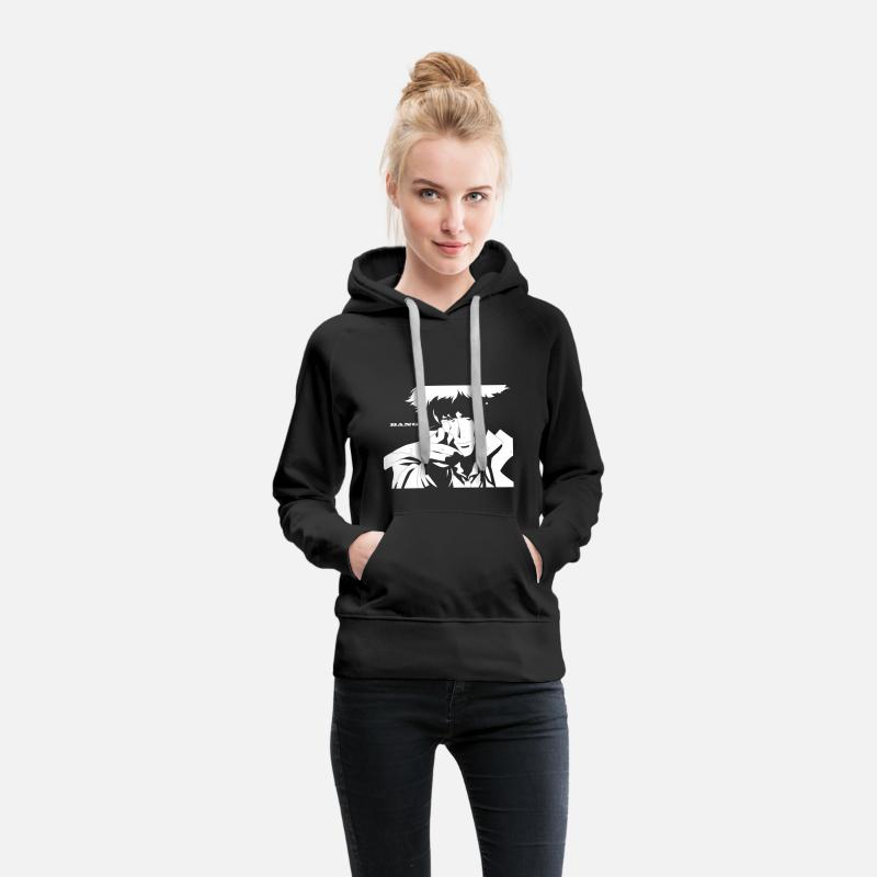 ea7e27b9 Cowboy Bebop Bang Women's Premium Hoodie - black