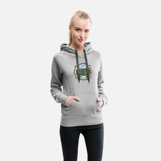 Off Hoodies & Sweatshirts - FixedByDoc.com Logo - Women's Premium Hoodie heather gray