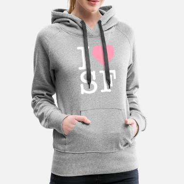 I Love San Francisco I Love San Francisco! - Women's Premium Hoodie