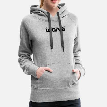 Waves wave waving - Women's Premium Hoodie
