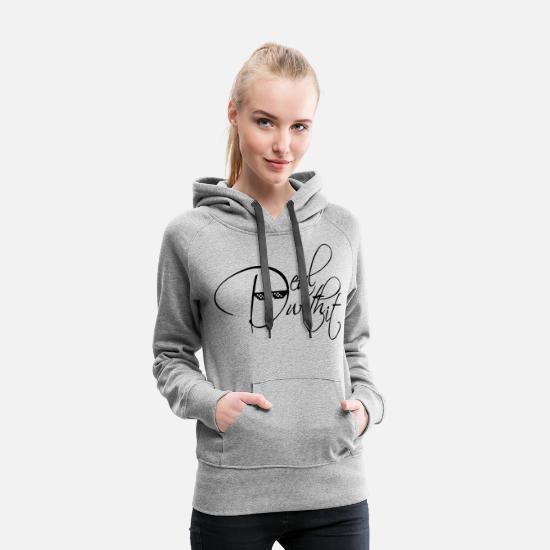 Deal Hoodies & Sweatshirts - pixel sunglasses cool text deal with it relax keep - Women's Premium Hoodie heather gray