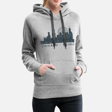 Illinois Chicago Illinois Skyline Architecture Souvenir - Women's Premium Hoodie