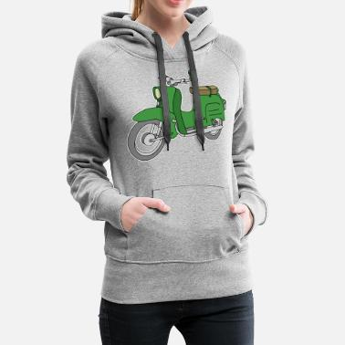 East Germany Schwalbe, scooter from GDR (green) - Women's Premium Hoodie