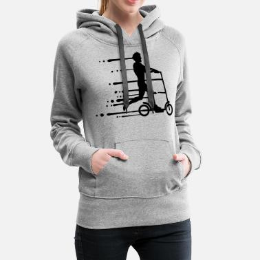 Cool drip graffiti wet electric scooter clipart electri - Women's Premium Hoodie