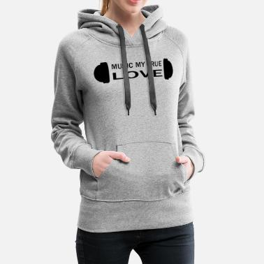 Dubstep Musician love saying techno hip hop pop Present - Women's Premium Hoodie