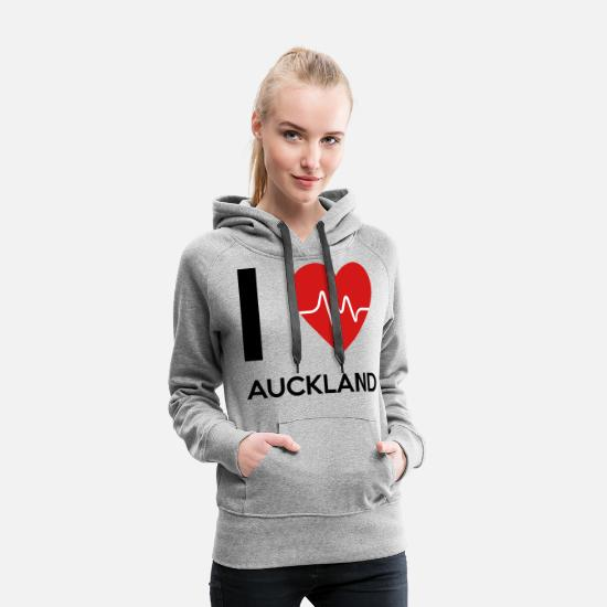 Auckland Hoodies & Sweatshirts - I Love Auckland - Women's Premium Hoodie heather gray