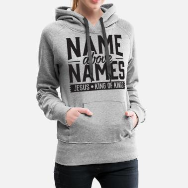 Gangsta Rap name above names - Women's Premium Hoodie