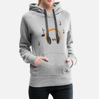 Headphones headphone - Women's Premium Hoodie