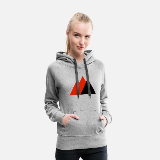 Mountains Hoodies & Sweatshirts - Mountains triangle (red, black) - Women's Premium Hoodie heather gray