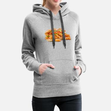 Fried Shrimp Poboy overflowing realistic sandwich - Women's Premium Hoodie