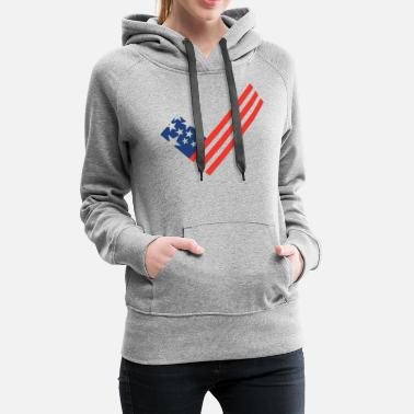 It Manager Art USA flag element as a tick mark - Women's Premium Hoodie
