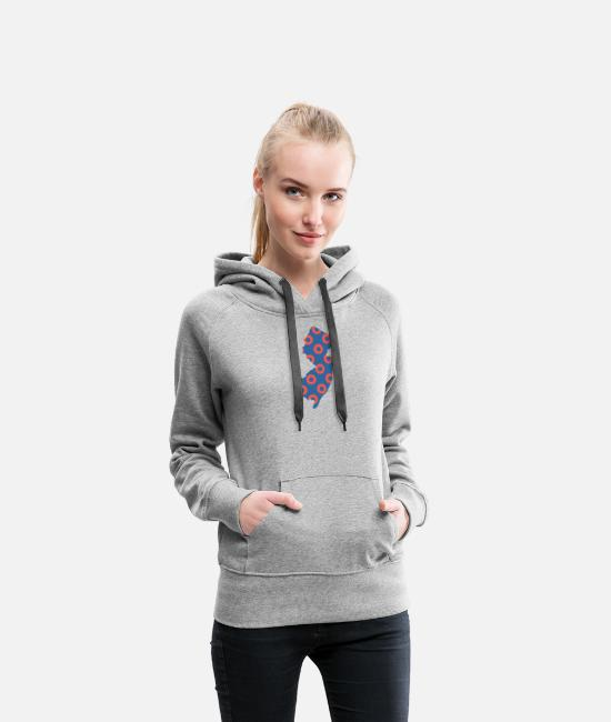 Maternity Hoodies & Sweatshirts - Phish Fishman Donut New Jersey Phanart - Women's Premium Hoodie heather gray