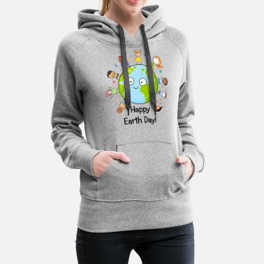 Happy Childrens Day Happy Earth Day Children Around The Planet 2019 - Women's Premium Hoodie