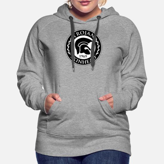 S-XXL # Black Hoody Skinhead Red Design Hooded Sweatshirt