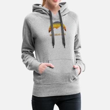 Ski Vintage mountain sunset design for men and women. - Women's Premium Hoodie
